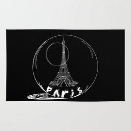Paris in a glass ball . art . https://society6.com/vickonskey/s?q=popular+prints Rug