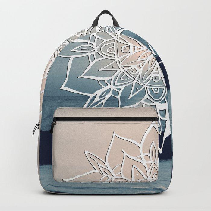 Twilight Mandala Ocean Bliss Dream #2 #sunset #decor #art #society6 Backpack