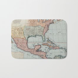 Vintage Map of The Gulf of Mexico (1732) Bath Mat