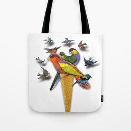 BIRDS ICE CREAM Tote Bag