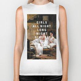 girls all night long Biker Tank
