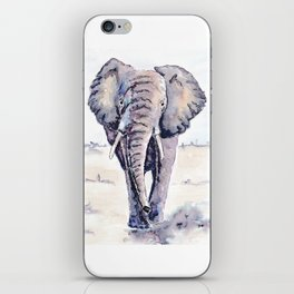 Elephant on a mission iPhone Skin