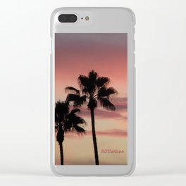 Atmospherics Number 3: Two Palms in the Sunset Clear iPhone Case