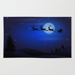 Santa's sleigh ride Rug