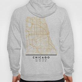 CHICAGO ILLINOIS CITY STREET MAP ART Hoody