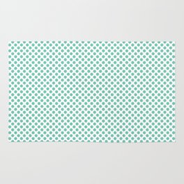 Lucite Green Polka Dots Rug