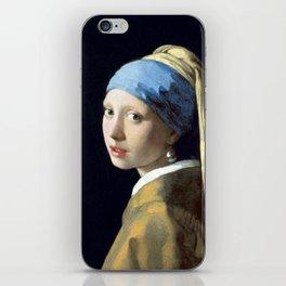 Johannes Vermeer Girl with a Pearl Earring iPhone Skin