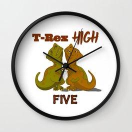 T-Rex High Five Wall Clock