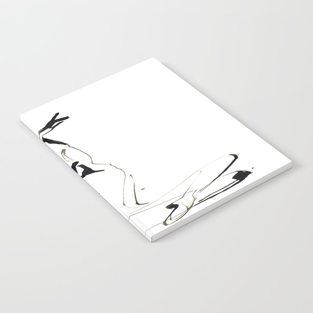 India Ink Dance Drawing Notebook by Catarinagarciaart NBK9008123