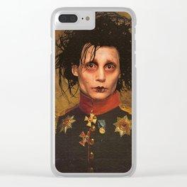Edward Scissor Hands General Portrait Clear iPhone Case