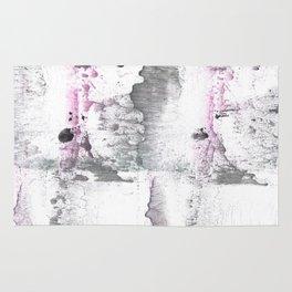 Gray Pink hand-drawn watercolor pattern Rug