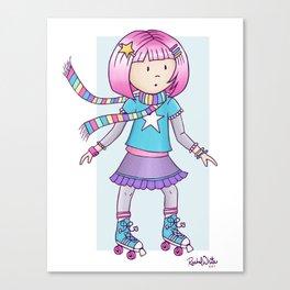 Cutie Pie Roller Skate Canvas Print