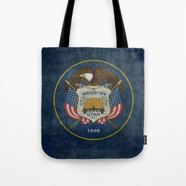 Utah State Flag, vintage retro style Tote Bag
