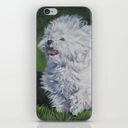 Bichon Bolognese dog art from an original painting by L.A.Shepard iPhone Skin