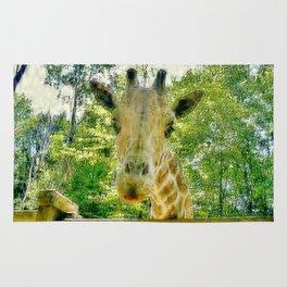 Giraffe Face Close Up Rug