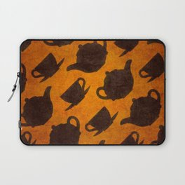 Teapots Cups Design Symbol Texture Pattern Laptop Sleeve