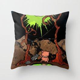 Dig Big Pig Throw Pillow