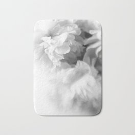 Blured white peonies Bath Mat