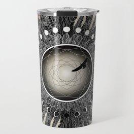 Crow Twilight Dreamcatcher Travel Mug