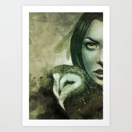 Owllie Art Print