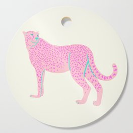 PINK STAR CHEETAH Cutting Board