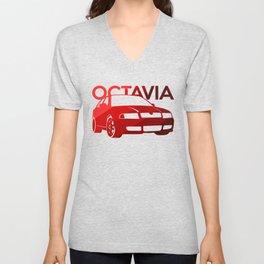 Skoda Octavia - classic red - Unisex V-Neck