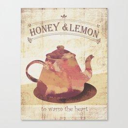 honey & lemon tea art Canvas Print