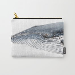 Humpback whale portrait Carry-All Pouch