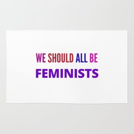 WE SHOULD ALL BE FEMINISTS Rug