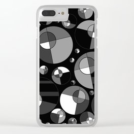 Bubble Grey 11 Clear iPhone Case