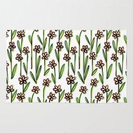 Five Leaves Flowers - Creative Floral Pattern Rug