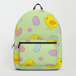 Easter pattern on green Backpack