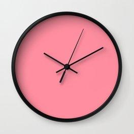 Pink Salmon Colour Wall Clock