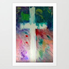 Worship With Paint Art Print