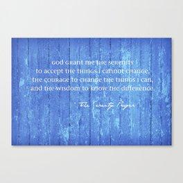 SERENITY PRAYER: BLUE BARN Canvas Print