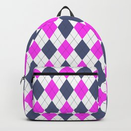 Pink & Purple: Argyle Pattern Backpack
