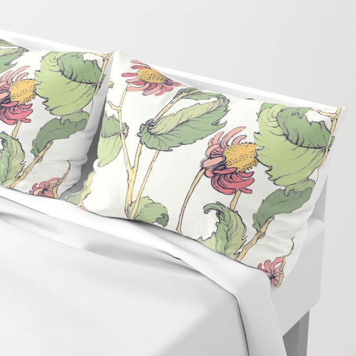 cute flowers Pillow Sham