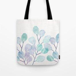 Eucalyptus / Watercolor Collage Tote Bag
