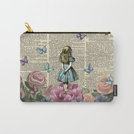 Alice In Wonderland Magical Garden Carry-All Pouch