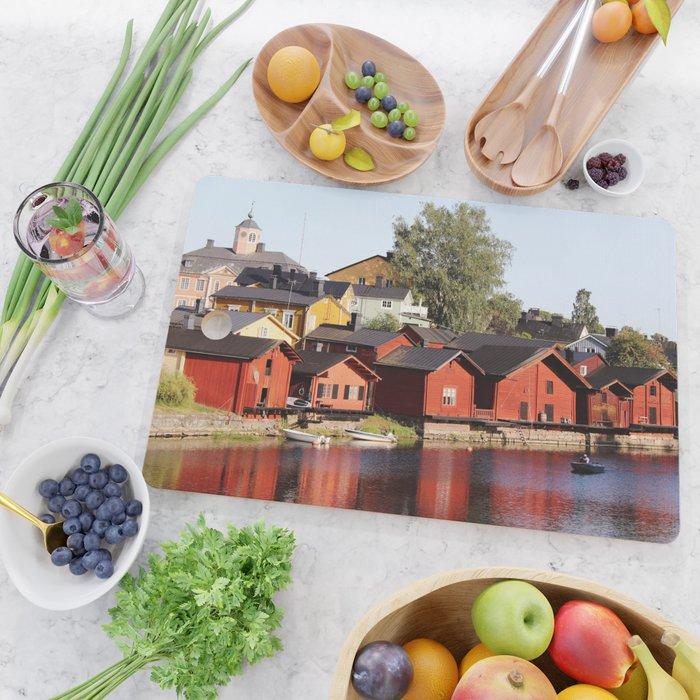 Old town Porvoo Finland Cutting Board