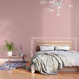 Large Lush Blush Pink Gingham Check Plaid Wallpaper