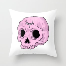 Witchy Skull Throw Pillow