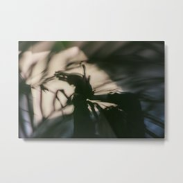 Dancing people, dance, shadows, hands and plants, blurred photography, artistic, forest, yoga Metal Print