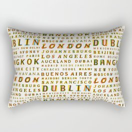 Travel World Cities Rectangular Pillow