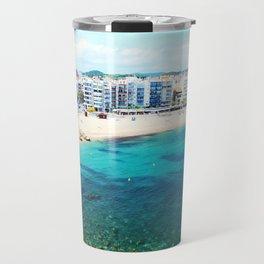 Beach at Blanes,Costa Brava. Travel Mug