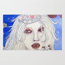 snow princess with cigarette Rug