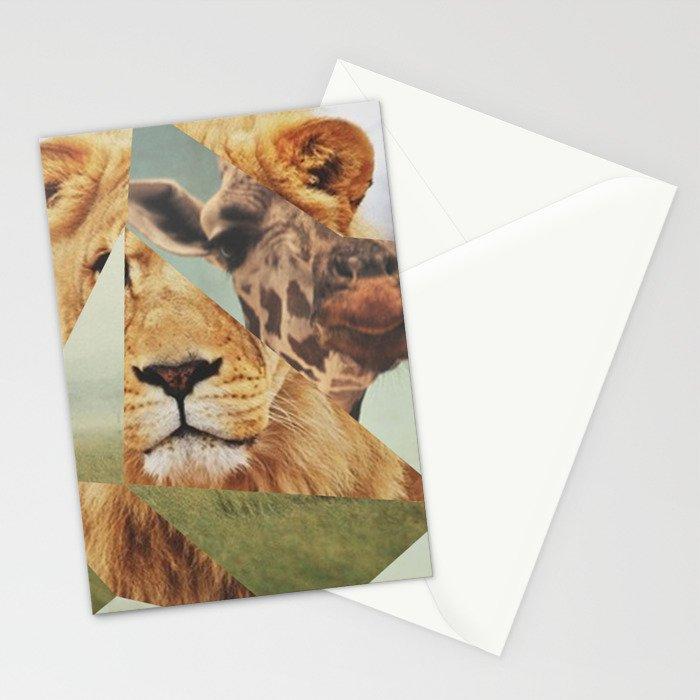 Geometric Animals Stationery Cards