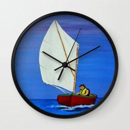 Little sailboat Wall Clock