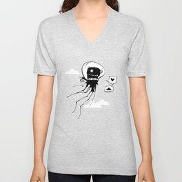 Flying squid – Seppiolina volante Unisex V-Neck