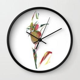 V is Vegan Wall Clock